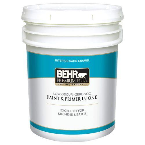 5 gal. #50 Ultra Pure White Satin Enamel Zero VOC Interior