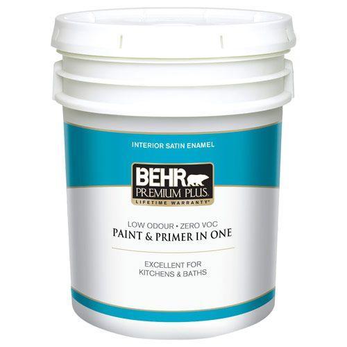 5 gal. #50 Ultra Pure White Satin Enamel Zero VOC Interior Paint and Primer in One