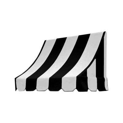 3 ft. Nantucket Window/Entry Awning (31 in. H x 24 in. D) in Black and White Stripes