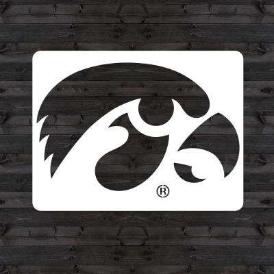"Iowa ""HAWKEYE"" Mini Stencil"