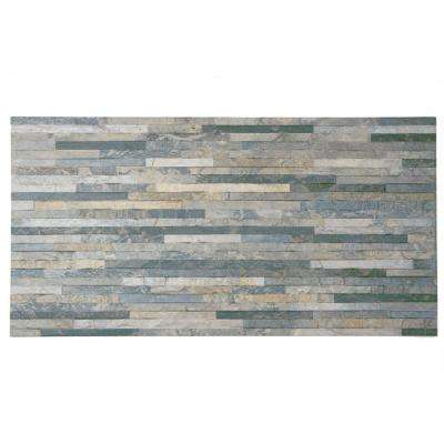 Muro Ardesia Gris 12-1/2 in. x 24-1/2 in. Porcelain Wall Tile (11 sq. ft. / case)