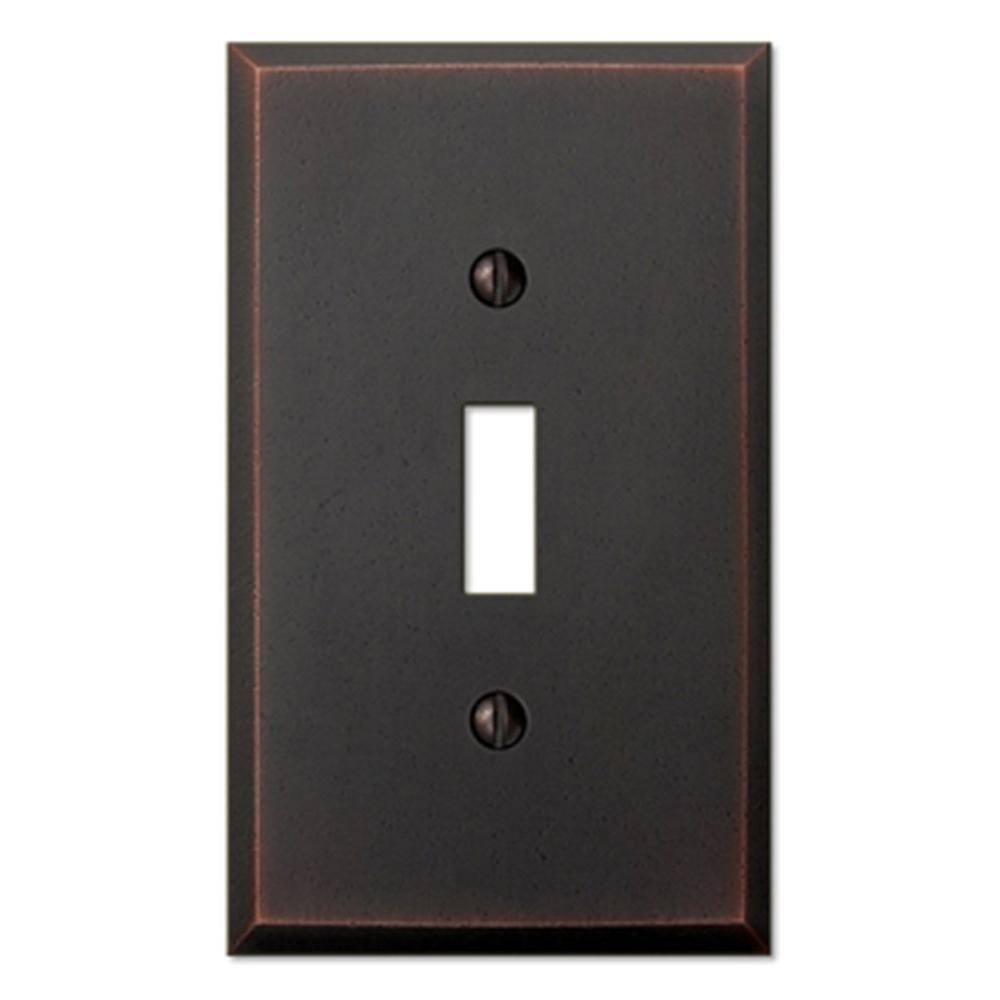 Manhattan 1 Toggle Wall Plate - Aged Bronze