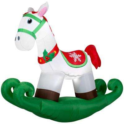 6 ft. Inflatable Lighted Airblown Rocking Horse