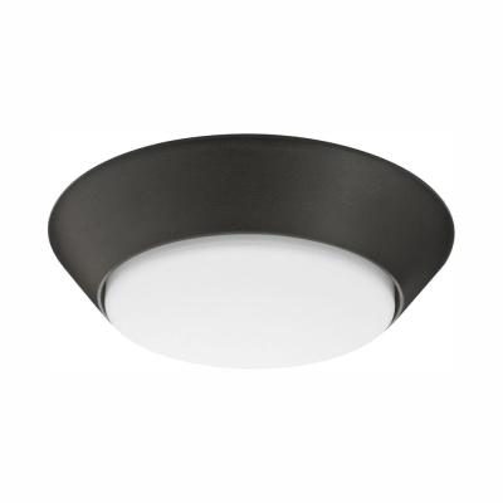 Versi Lite 7.25 in. 9.3-Watt Textured Bronze Integrated LED Canopy Light Cool White