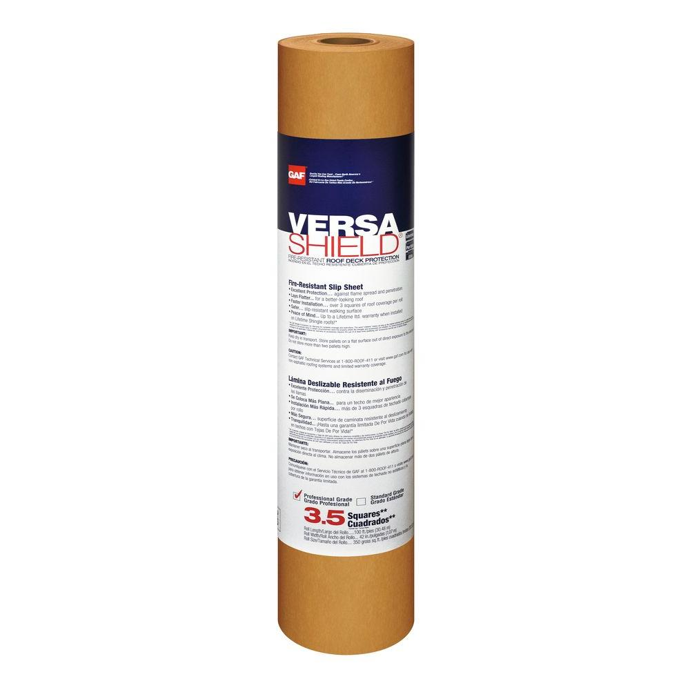 Gaf Tiger Paw 1000 Sq Ft Premium Synthetic Roofing Underlayment Roll 0980 The Home Depot