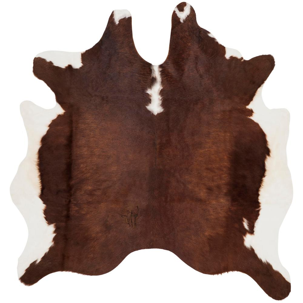 Safavieh Cow Hide Brown White 4 Ft X 6 Area Rug