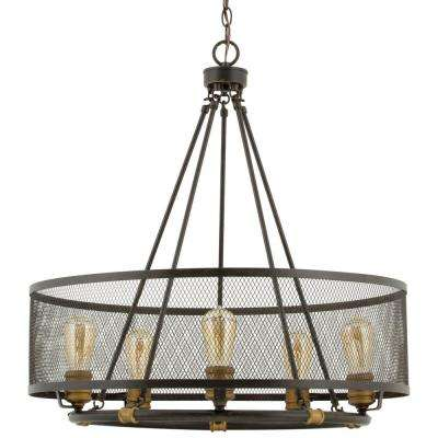 Mayfield Park Collection 5-Light Forged Bronze Chandelier