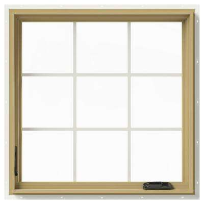 36 in. x 36 in. W-2500 Left-Hand Casement Aluminum Clad Wood Window