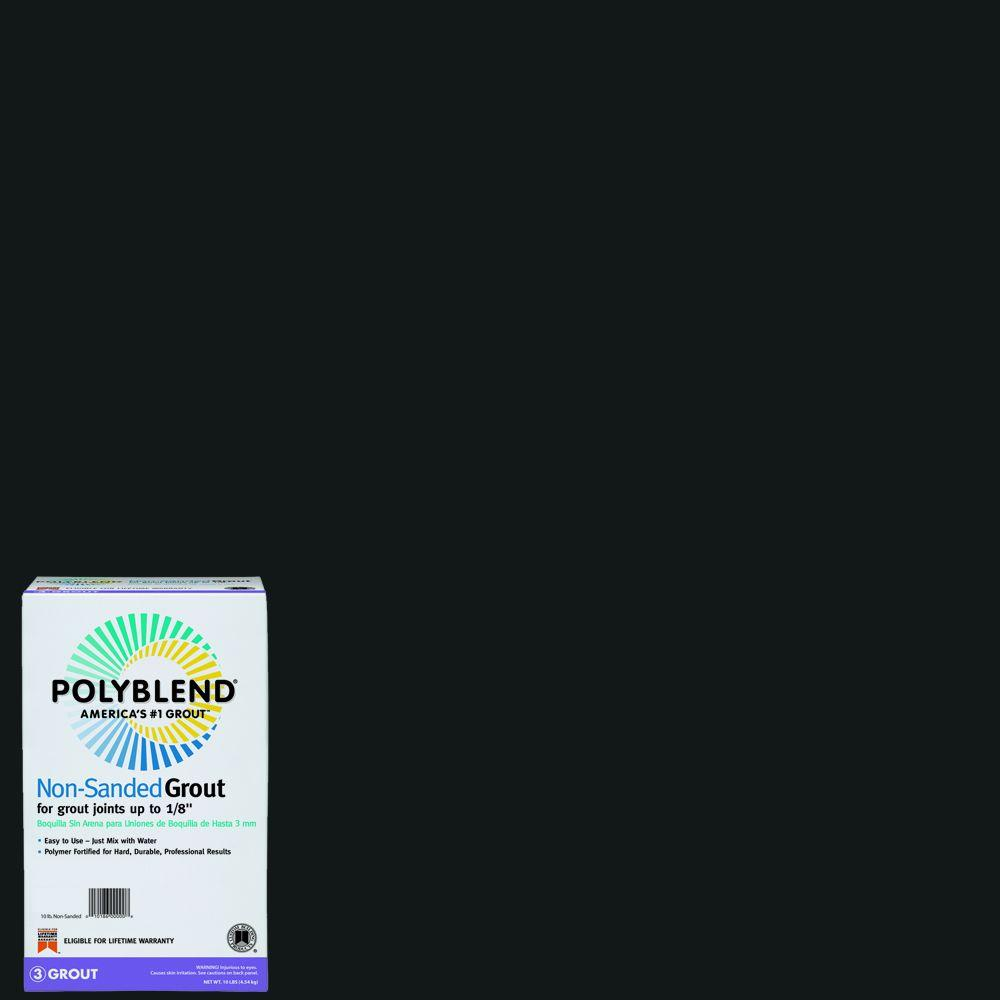 Custom Building Products Polyblend #60 Charcoal 10 lb. Non-Sanded Grout