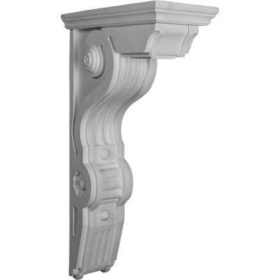 6-1/2 in. x 14-1/2 in. x 26 in. Primed Polyurethane Giana Large Corbel