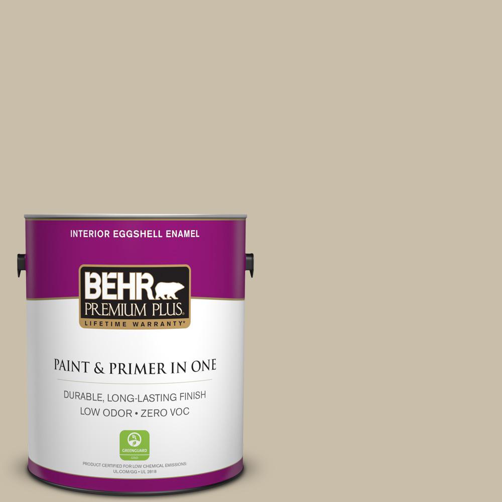 BEHR Premium Plus 1-gal. #PWL-91 Pale Bamboo Zero VOC Eggshell Enamel Interior Paint