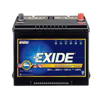 Extreme 12 Volts Lead Acid 6 Cell 24 Group Size 800 Cold Cranking Amps Auto