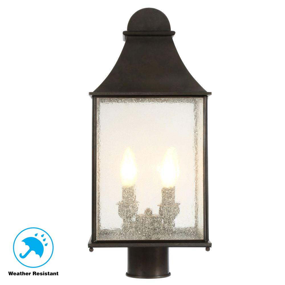 World Imports Revere Collection 4 Light Flemish Outdoor Post Lantern