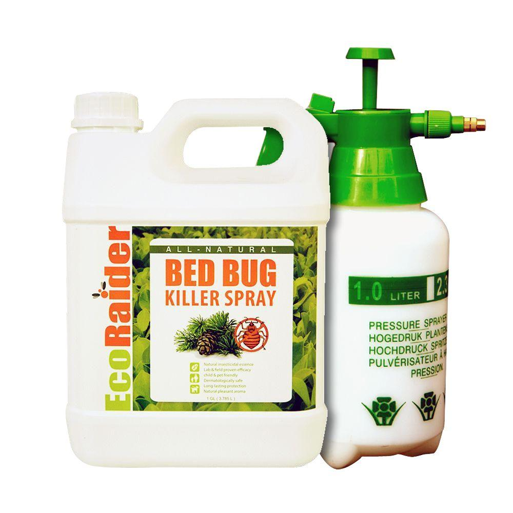 EcoRaider 1 gal. Natural & Non-Toxic Bed Bug Killer Jug Value Pack with Pressurized Pump Sprayer