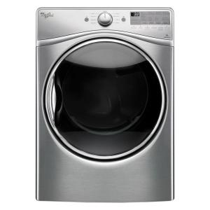 7.4 cu. ft. Front Load Gas Dryer with Advanced Moisture Sensing in Diamond Steel, EcoBoost