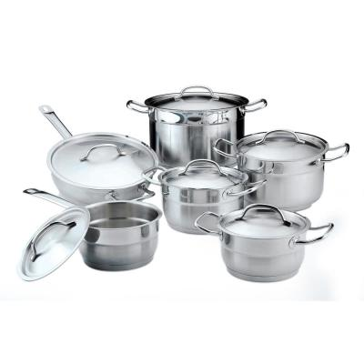 Hotel 12-Piece 18/10 Stainless Steel Cookware Set