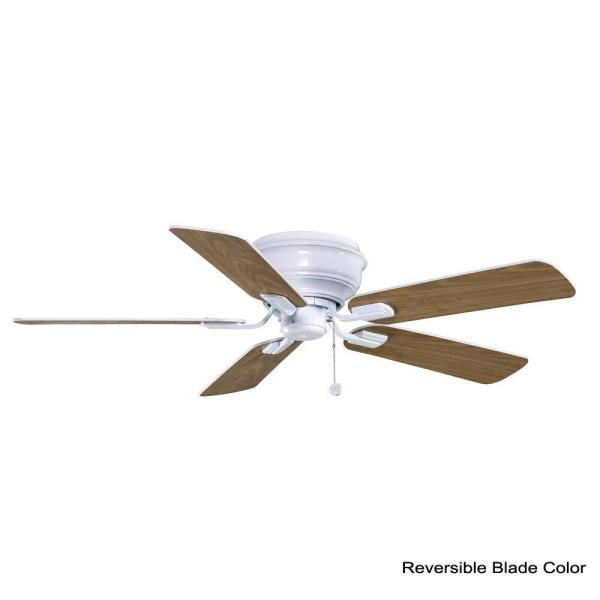Hampton Bay Hawkins 44 In Indoor White Ceiling Fan Yg204 Wh The Home Depot