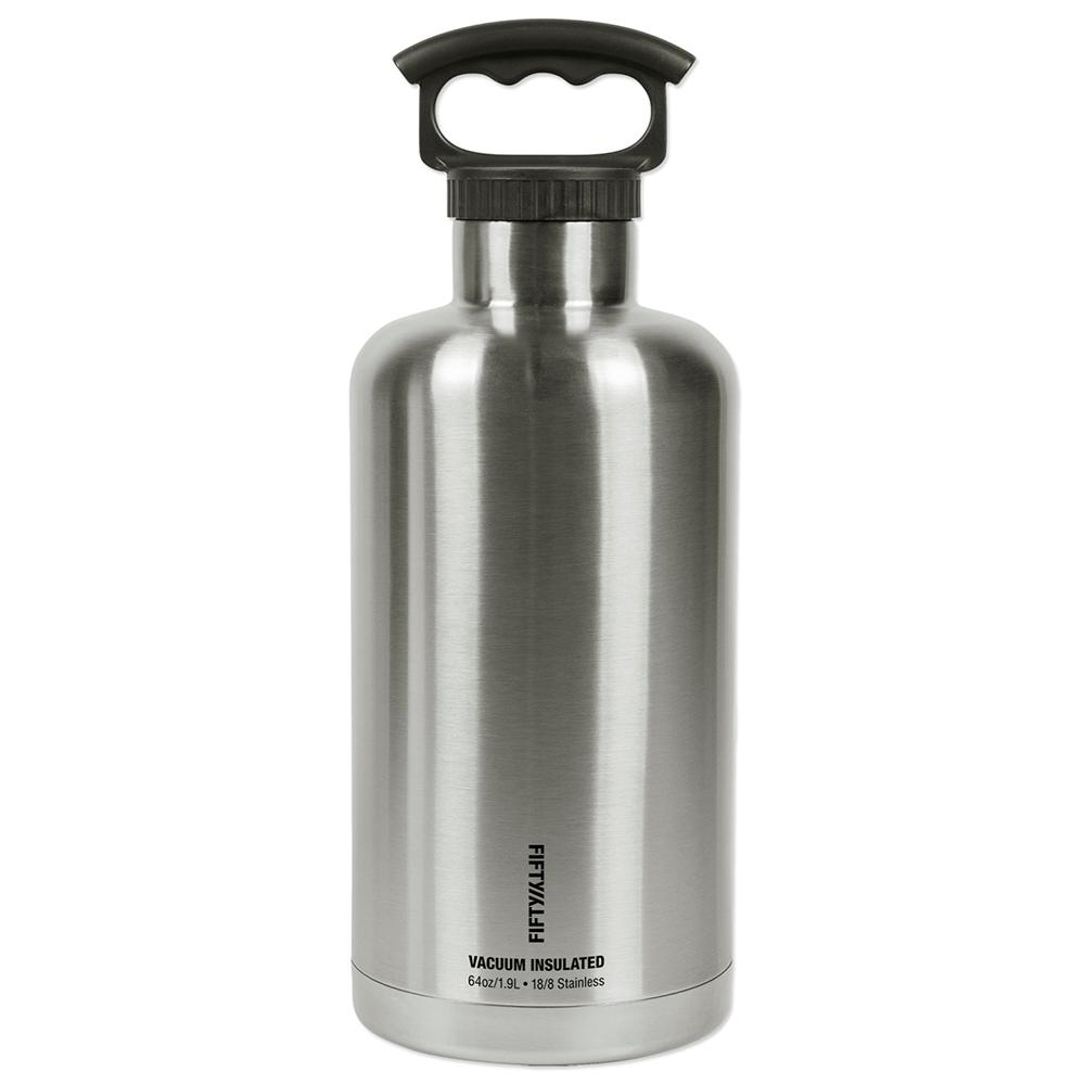FIFTY/FIFTY Vacuum-Insulated Tank Growler 64oz. Stainless Steel ...