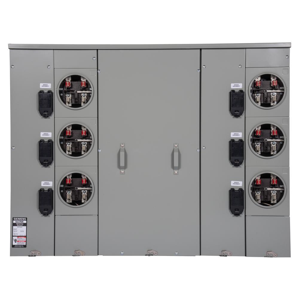 Uni-PAK 6-Gang 800 Amp Ring Style Multi-Family Metering