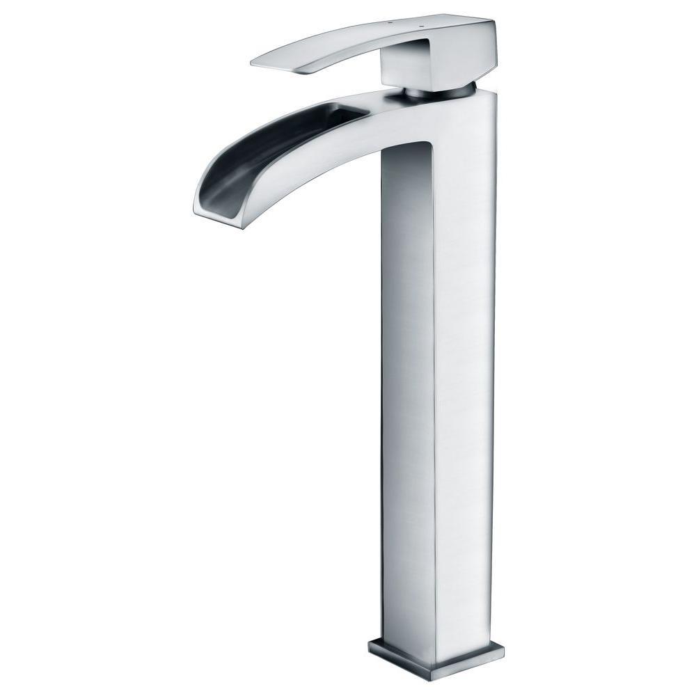 Key Series Single Hole Single-Handle Vessel Bathroom Faucet in Polished Chrome