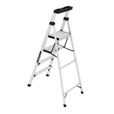 5.5 ft. Aluminum Hybrid Ladder with 250 lbs. Load Capacity Type I Duty Rating