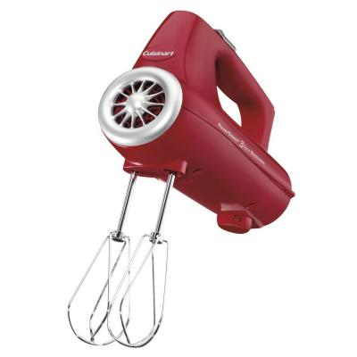 PowerSelect 3-Speed Red Hand Mixer with Spatula and Recipe Book
