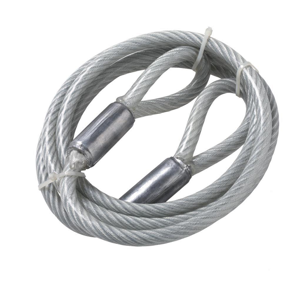 Everbilt 3 8 In X 9 Ft Galvanized Cable Sling With Loops