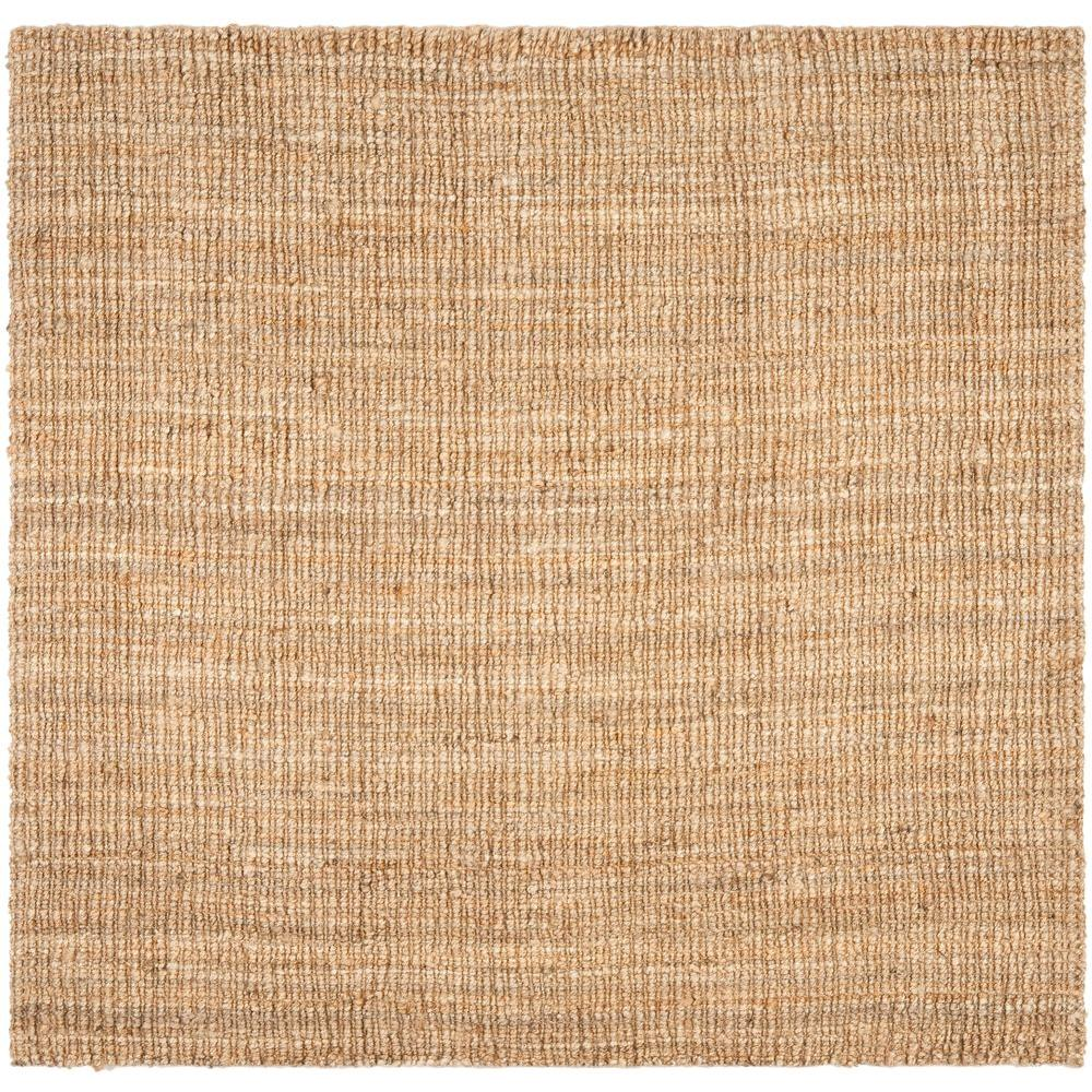 Bon Safavieh Natural Fiber Beige 4 Ft. X 4 Ft. Square Area Rug