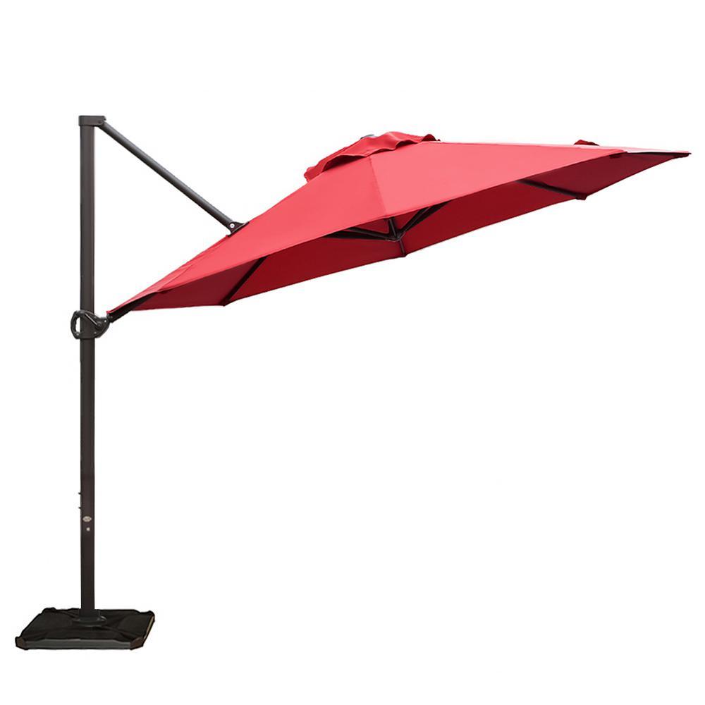 Abba Patio 11 ft. Cantilever Push Tilt Patio Umbrella in ...