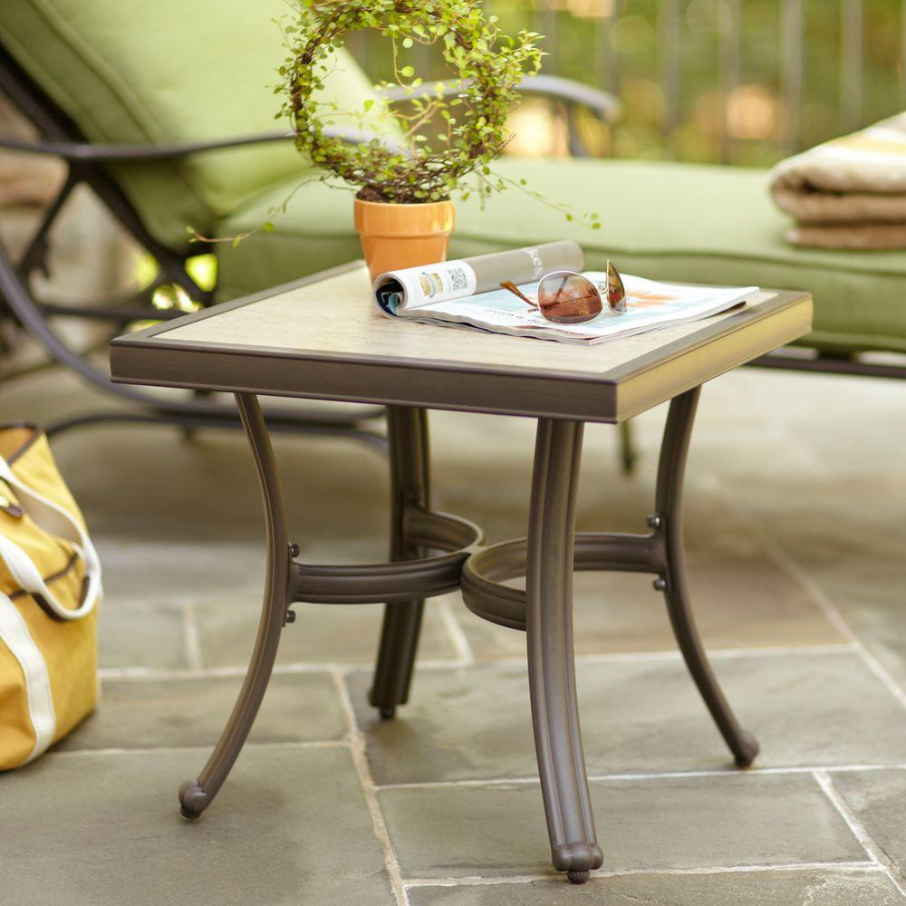 Hampton Bay Pembrey Patio Accent Table