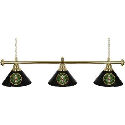 U.S. Army 3-Light Green Billiard Lamp