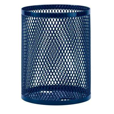 32 gal. Diamond Blue Commercial Park Portable Trash Receptacle