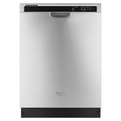 Whirlpool Front Control Built-in Tall Tub Dishwasher in Monochromatic Stainless Steel with 1-Hour Wash Cycle, 55 dBA