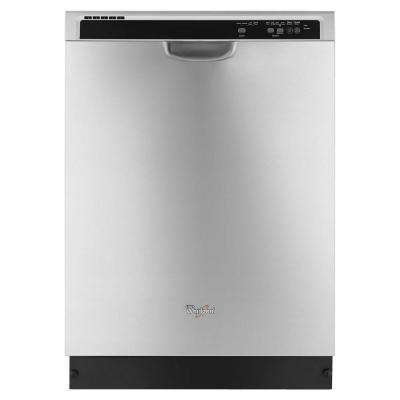 24 in. Front Control Built-in Tall Tub Dishwasher in Monochromatic Stainless Steel with 1-Hour Wash Cycle