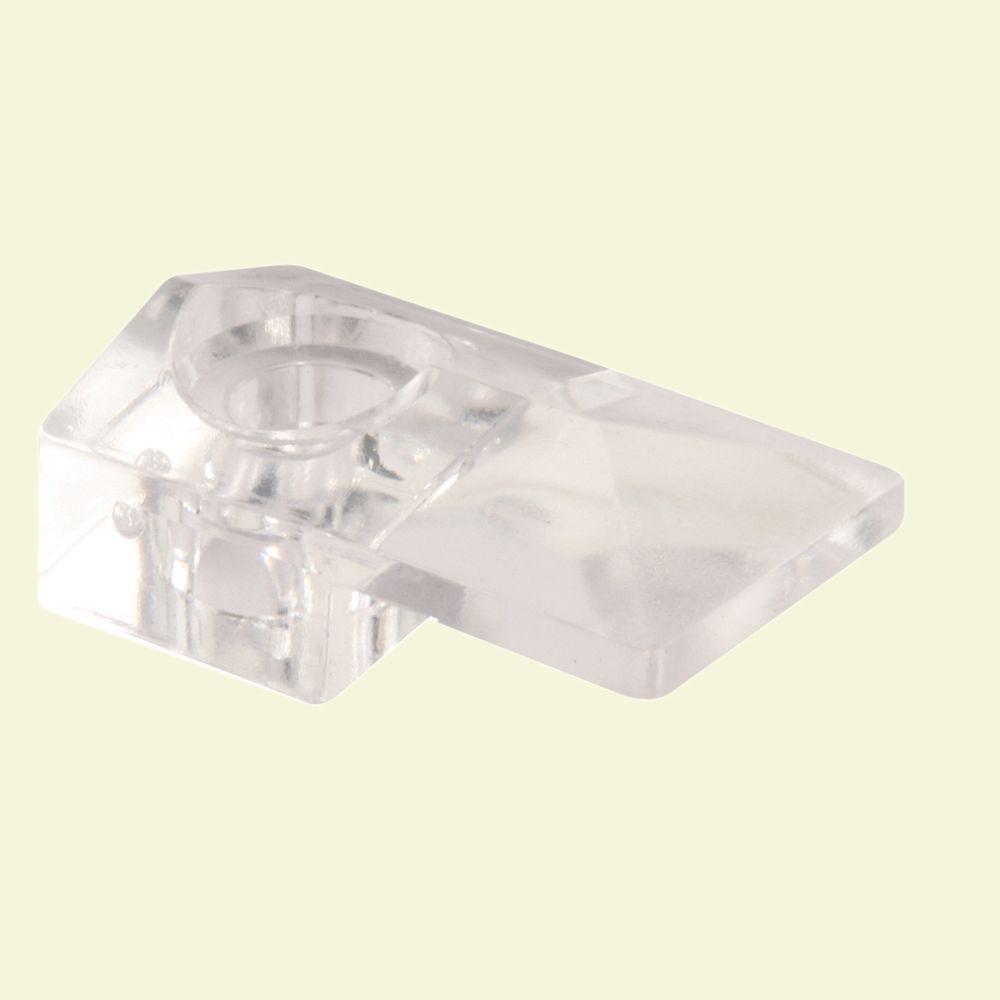 Glass Retainer Clip 1//8In Offset 50 Pcs New Clear Plastic
