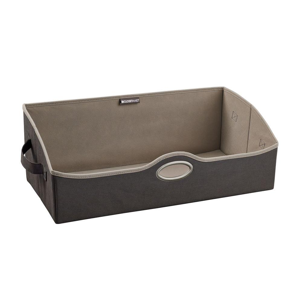 Large Fabric Storage Bin In Gray