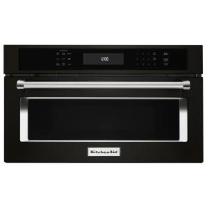 KitchenAid 27 inch 1.4 cu. ft. Built-In Microwave Oven in Black Stainless by KitchenAid