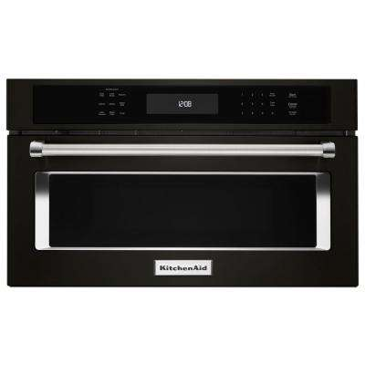 1.4 cu. ft. Built-In Convection Microwave in Black Stainless