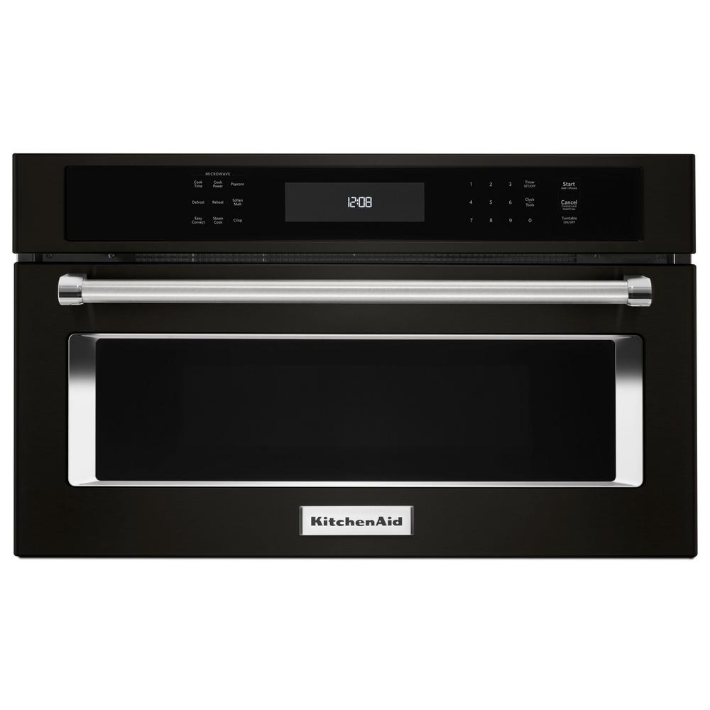 KitchenAid 1.4 cu. ft. Built-In Convection Microwave in Black Stainless with PrintShield Finish