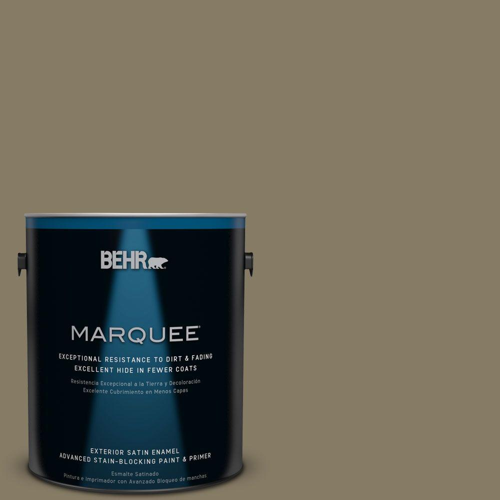 1-gal. #ECC-55-3 Olive Sprig Satin Enamel Exterior Paint