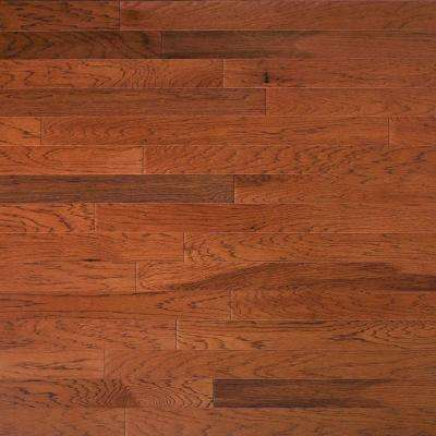 Hickory Leather 3/8 in. Thick x 4-3/4 in. Wide x Random Length Engineered Click Hardwood Flooring (33 sq. ft. / case)