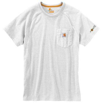 Force Delmont Men's Regular XXXX Large White Cotton Short Sleeve T-Shirt