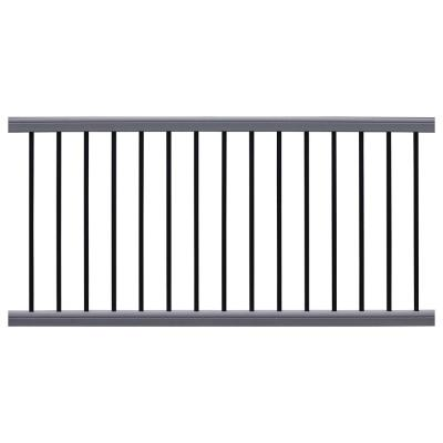 Ultrashield Hemispheres 36 in. x 3 in. x 6 ft. Westminster Gray Composite Railing Kit