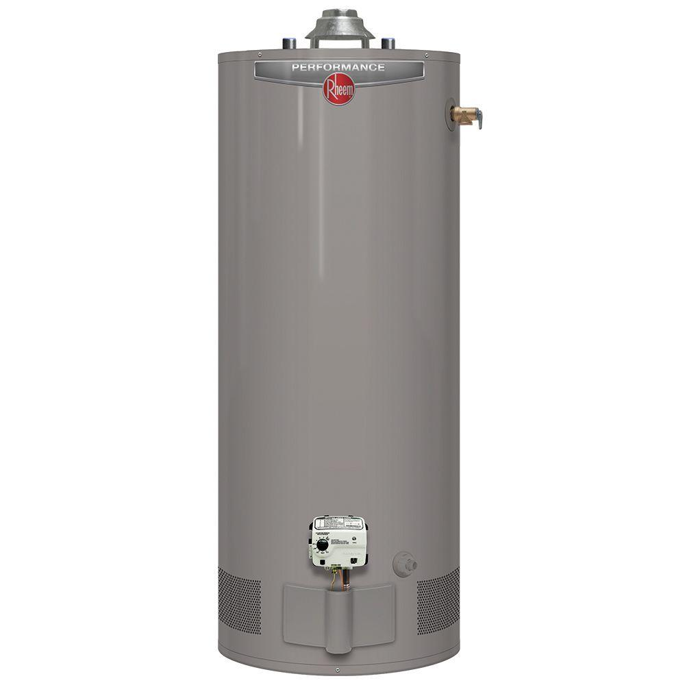 Rheem Performance 50 Gal. Short 6 Year 40,000 BTU Natural Gas Tank Water Heater