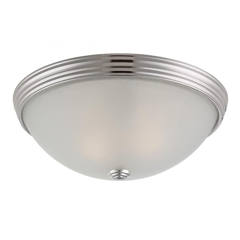 Lisa 2-Light Polished Nickel Flush Mount