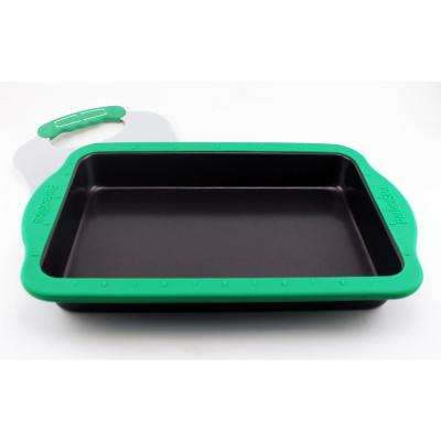 Perfect Slice Cake Pan with Silicone Sleeve and Slicing Tool