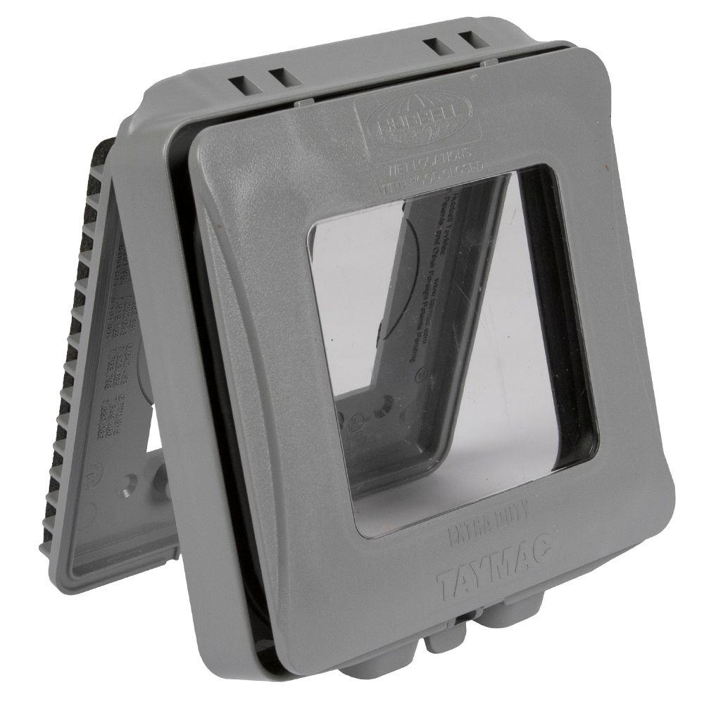 2-Gang Horizontal or Vertical Mount Weatherproof Expandable Low Profile Extra