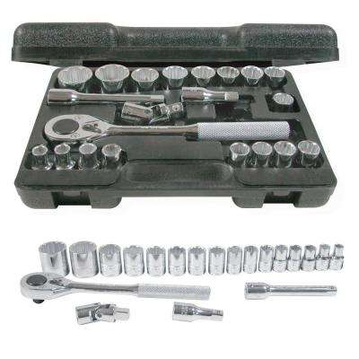 1/2 in. Drive Blow Molded 12-Point Hand Socket & Accessories Set (20-Piece)
