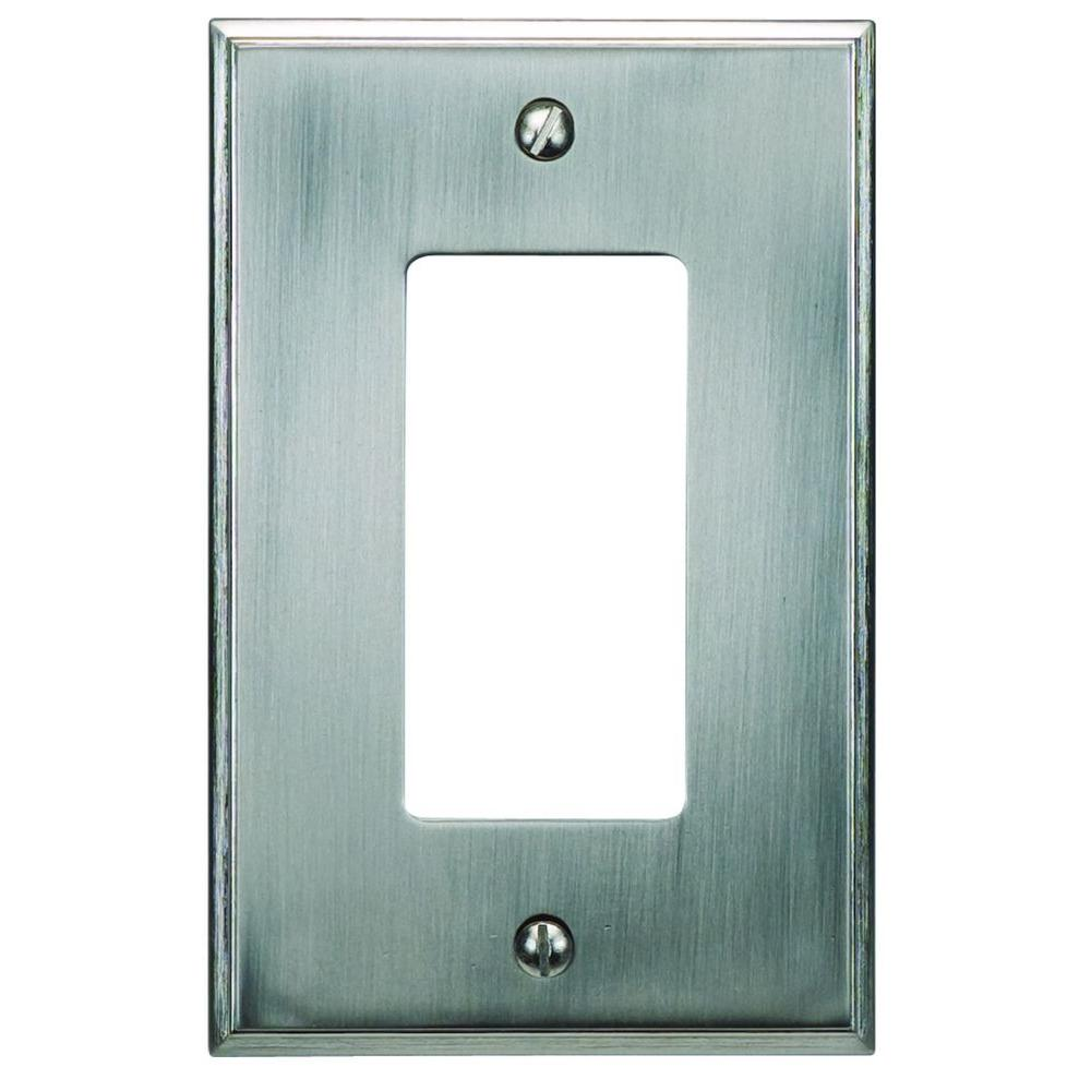 Atlas Homewares Sutton Plate Collection 1 Rocker Wall Plate - Brushed Nickel