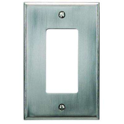Sutton Plate Collection 1 Rocker Wall Plate - Brushed Nickel